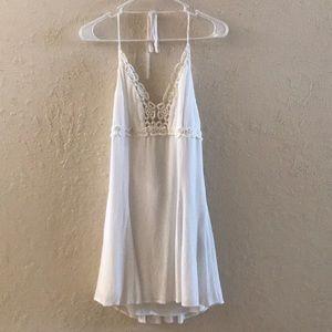 Forever 21 White Lace Skater Dress